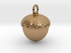 Acorn Charm in Polished Brass