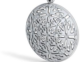 PA Medalion V2fSE74D36h4 in Fine Detail Polished Silver