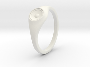Liza - Ring - US 6¾ - 17.12mm in White Natural Versatile Plastic
