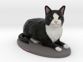 Custom Cat Figurine - Harvey in Full Color Sandstone