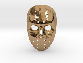 Jason Voorhees Mask (Small) in Polished Brass