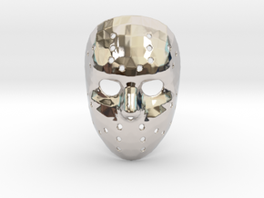 Jason Voorhees Mask (Small) in Rhodium Plated Brass