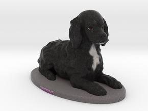 Custom Dog Figurine - Sable in Full Color Sandstone