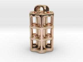 Tritium Lantern 5B (3x22.5mm Vials) in 14k Rose Gold Plated Brass