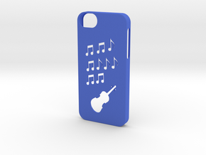 Iphone 5/5s music case  in Blue Processed Versatile Plastic