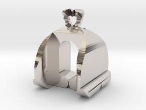 I♥U Shape 2 - MP in Rhodium Plated Brass