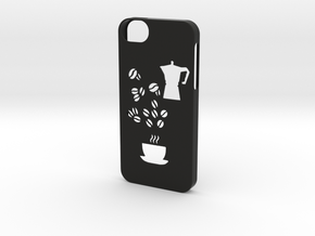 Iphone 5/5s coffee case in Black Natural Versatile Plastic
