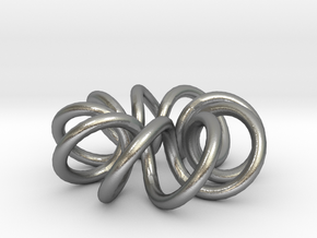 (9, 2) Spiral Torus in Natural Silver