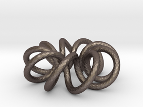 (9, 2) Spiral Torus in Polished Bronzed Silver Steel