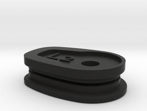 01-05 Yamaha FZ1 Signal Block off Plates - left in Black Natural Versatile Plastic