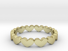 Hearts Ring Size 11 in 18k Gold