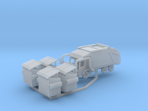 Garbage Truck Z Scale Revised in Smooth Fine Detail Plastic