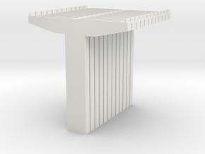 Bridge Supports V2 N Scale in White Natural Versatile Plastic