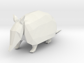Armadilo Shapeways in White Strong & Flexible