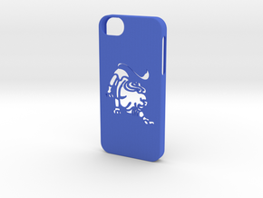 Iphone 5/5s leo case in Blue Processed Versatile Plastic