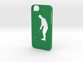 Iphone 5/5s golf case in Green Processed Versatile Plastic