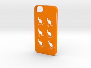 Iphone 5/5s kangaroo case in Orange Processed Versatile Plastic
