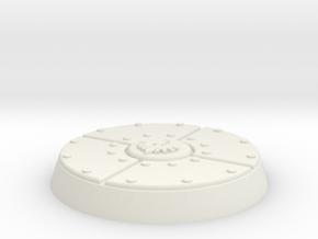 25mm Dark Angel Miniature Base in White Natural Versatile Plastic
