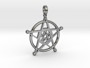 PENTAGRAM ELEMENTS ICON in Premium Silver