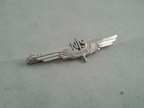 Allan Vleugel - Tie Clip in Rhodium Plated Brass