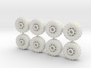 15mm diameter buggy/UTV wheels (8) in White Strong & Flexible