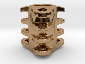 Triple Tritium Bead 3 (2x12mm Vials) in Polished Brass