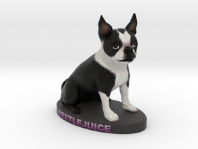 Custom Dog Figurine - Beetlejuice in Full Color Sandstone