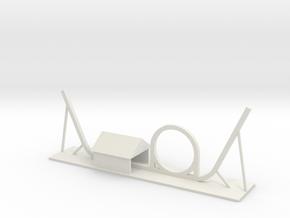 Shuttle Loop Roller Coaster in White Natural Versatile Plastic