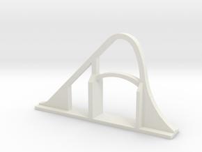 Goliath (SFGAM) Roller Coaster in White Natural Versatile Plastic