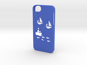Iphone 5/5s fishing case in Blue Strong & Flexible Polished