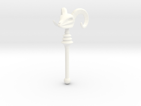 Skeletor's Havoc Staff scaled for Lego in White Processed Versatile Plastic