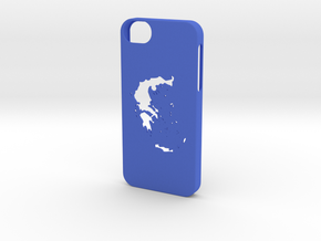 Iphone 5/5s Greece case  in Blue Strong & Flexible Polished