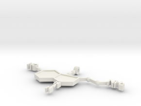 Serratonin Pendant in White Natural Versatile Plastic