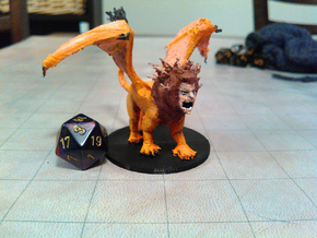 Manticore in White Natural Versatile Plastic