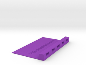 USB Device 3x5 Index Card Holder in Purple Processed Versatile Plastic