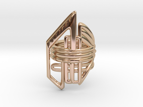 Balem's Ring2 - US-Size 11 1/2 (21.08 mm) in 14k Rose Gold Plated Brass