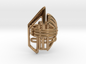 Balem's Ring2 - US-Size 10 1/2 (20.20 mm) in Polished Brass