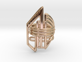Balem's Ring2 - US-Size 10 1/2 (20.20 mm) in 14k Rose Gold Plated Brass