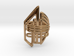 Balem's Ring2 - US-Size 10 (19.84 mm) in Polished Brass