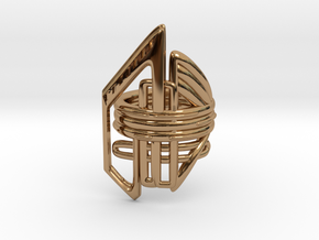 Balem's Ring2 - US-Size 9 (18.89 mm) in Polished Brass