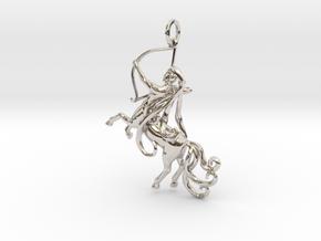 Sagittarius Zodiac Pendant in Platinum