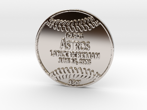 Lance Berkman in Rhodium Plated Brass
