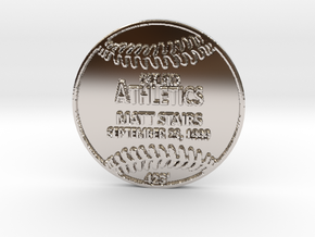 Matt Stairs in Rhodium Plated Brass