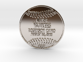 Robinson Cano in Rhodium Plated Brass
