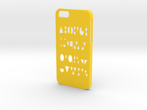 Iphone 6 Geometry case in Yellow Processed Versatile Plastic
