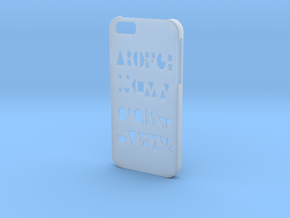 Iphone 6 Geometry case in Smooth Fine Detail Plastic