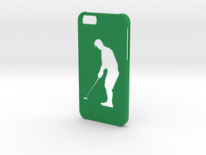 Iphone 6 Golf player case in Green Strong & Flexible Polished