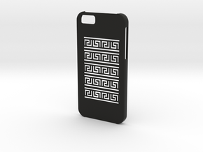 Iphone 6 Greek meander case in Black Strong & Flexible
