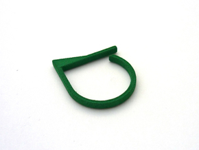 Adjustable ring. Basic model 7. in Green Processed Versatile Plastic
