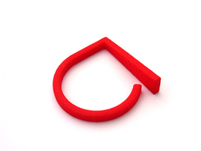Adjustable ring. Basic model 9. in Red Processed Versatile Plastic